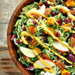 Fall Harvest Salad With Pumpkin Goddess Dressing …