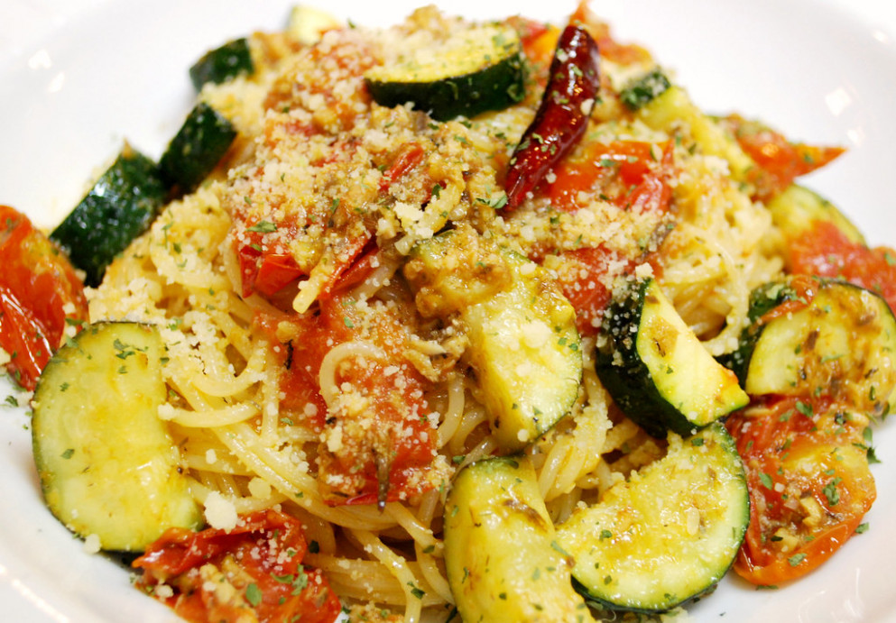 Fedelini with Zucchini and Sardines in oil