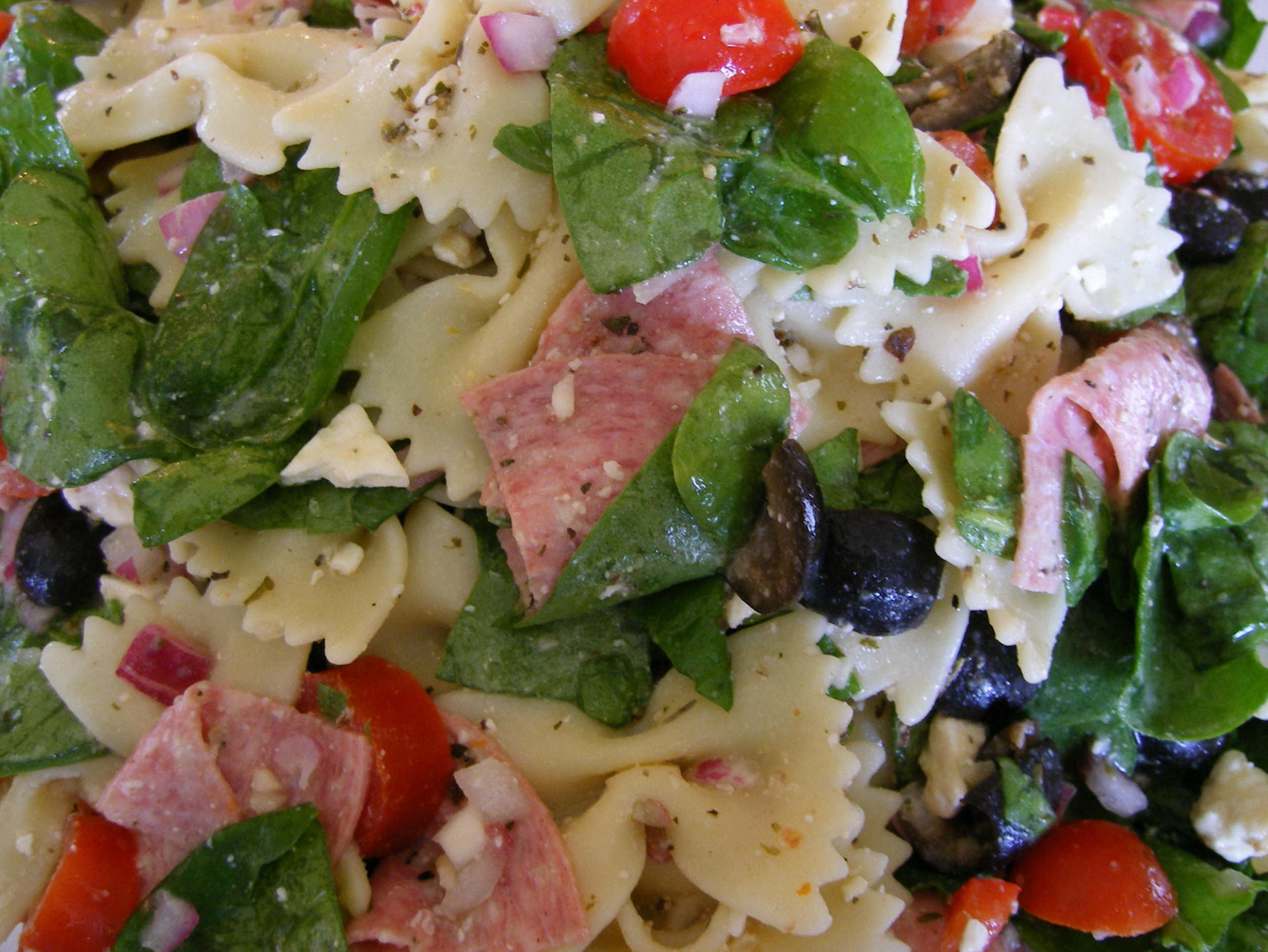 Feta Pasta Salad with Spinach recipe – All recipes ...