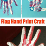 Flag Hand Print Craft Made With Kids Hands • MidgetMomma