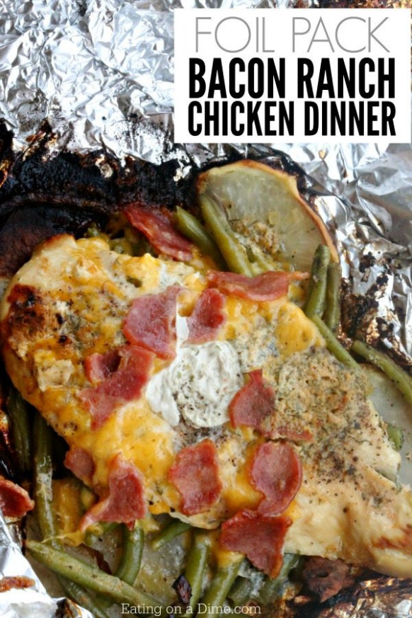 Foil Packet Bacon Ranch Chicken Recipe – Eating On A Dime