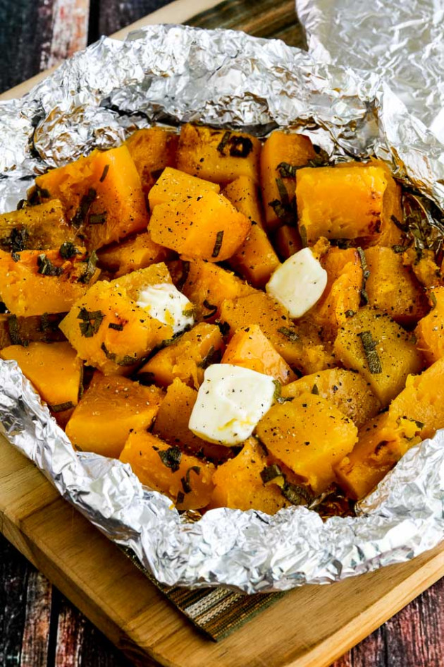 Foil-Wrapped Grilled (or Baked) Butternut Squash with Sage ...