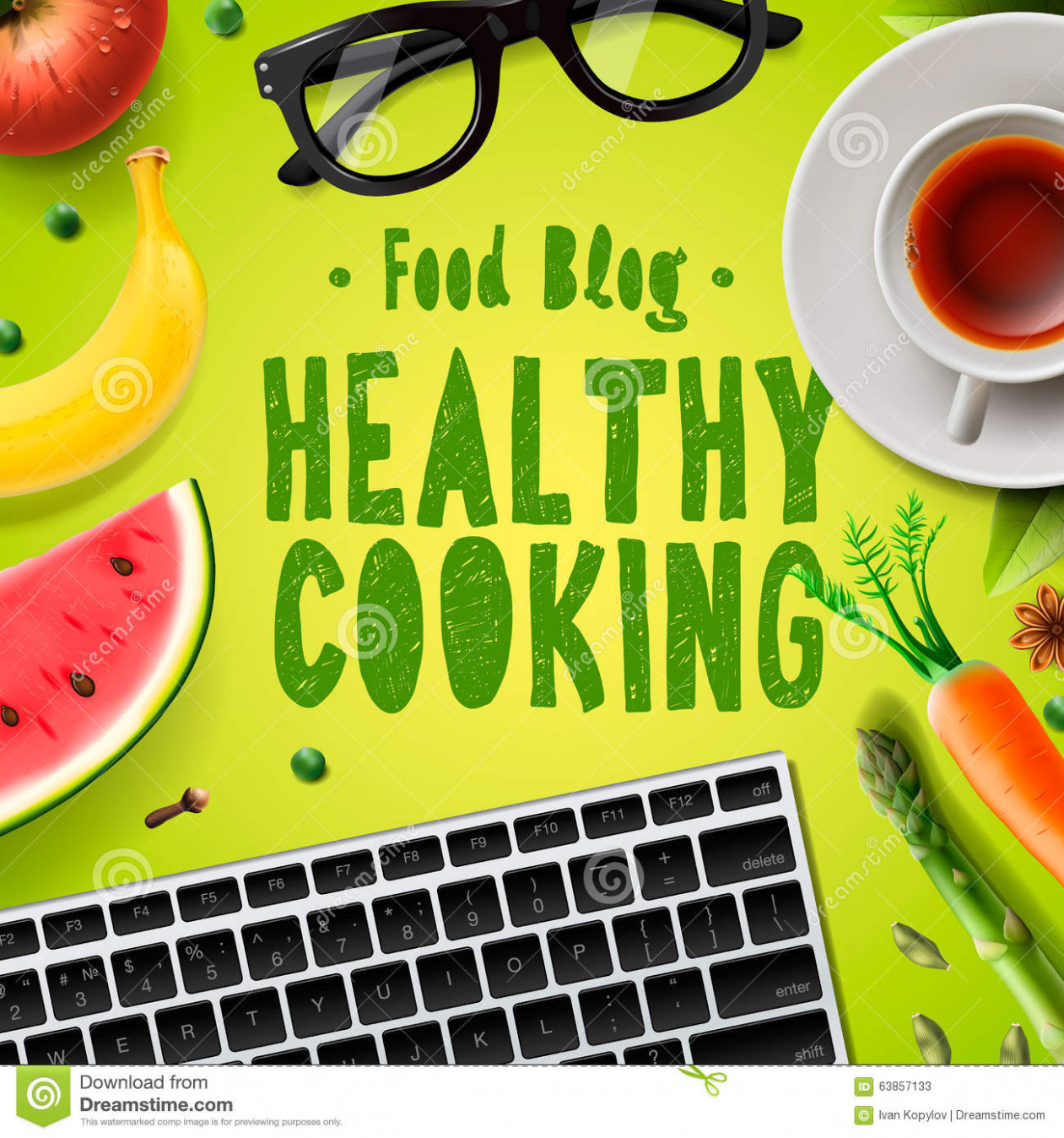 Food Blog, Healthy Cooking Recipes Online Stock ...