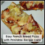 Free Printable Student Recipes: Easy French Bread Pizza …