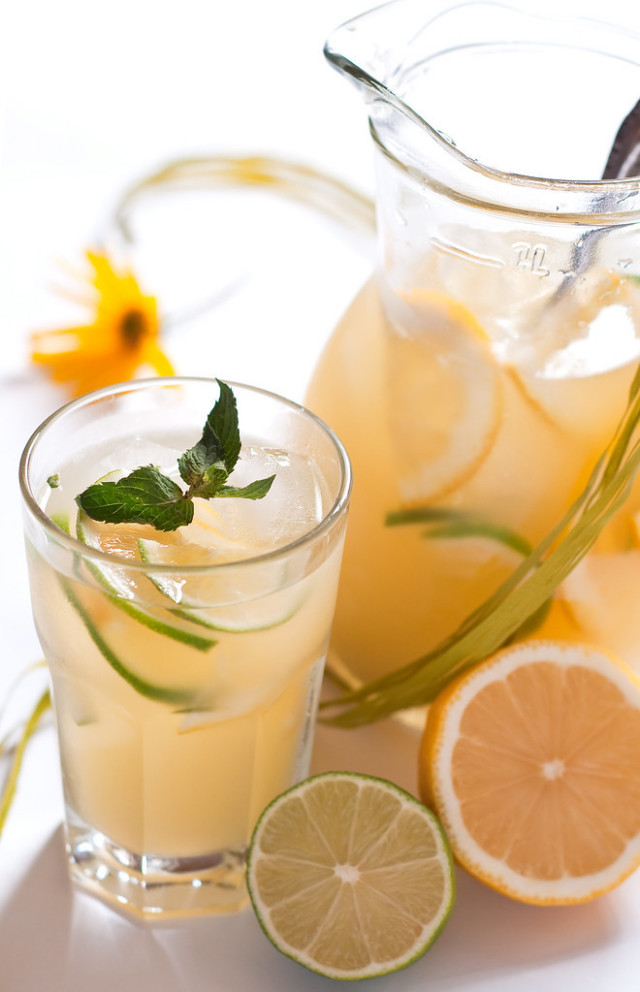 Fresh Homemade Lemonade With Mint