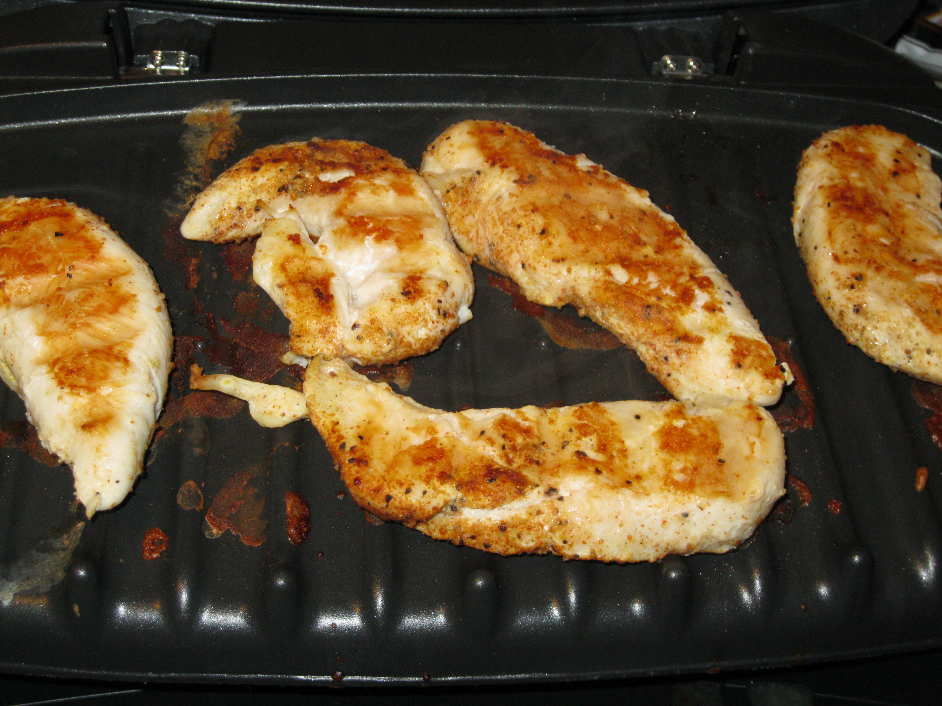 fried chicken on george foreman grill