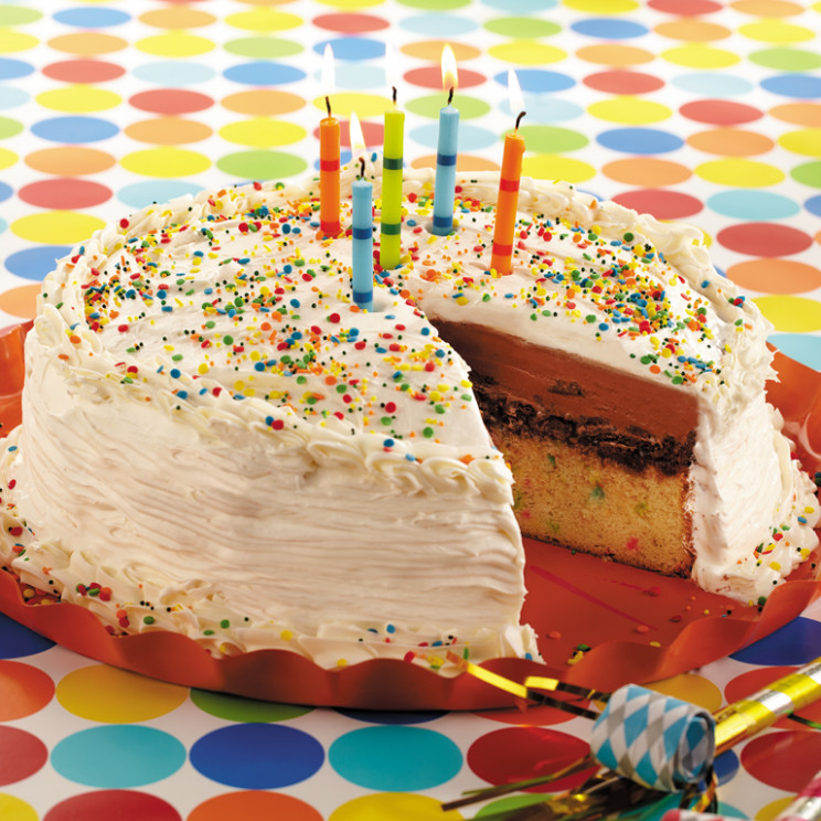 Funfetti Confetti Ice Cream Cake Recipe | MyRecipes