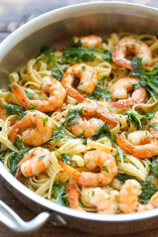 Garlic butter shrimp pasta, Garlic butter shrimp and ...