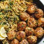 Garlic Butter Turkey Meatballs With Lemon Zucchini Noodles …