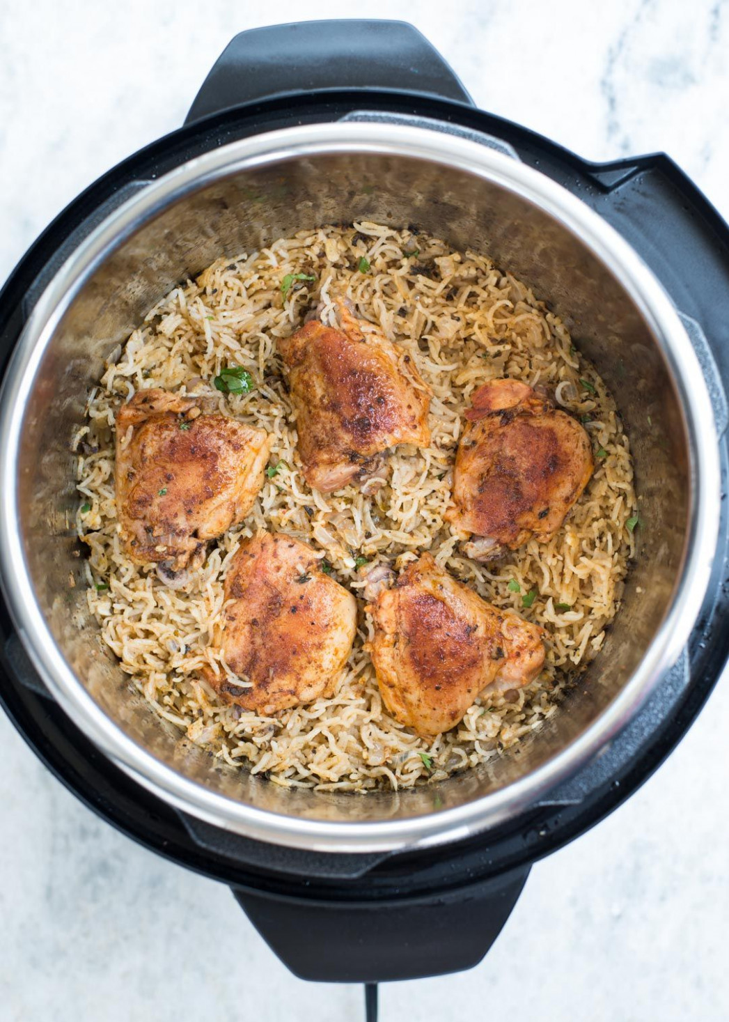 Garlic Herb Chicken and Rice made in the Instant Pot have ...