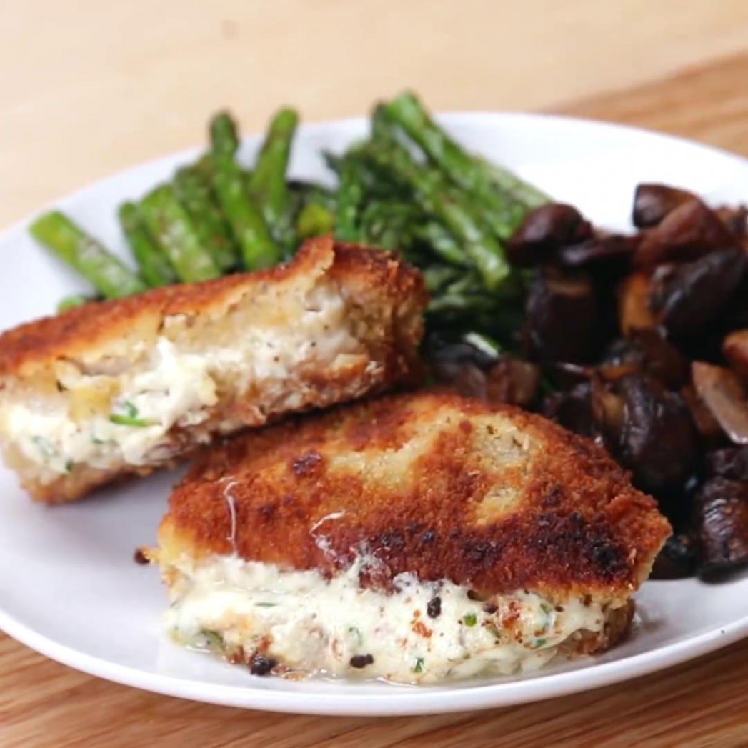 Garlic Herb-stuffed Pork Chops Recipe by Tasty