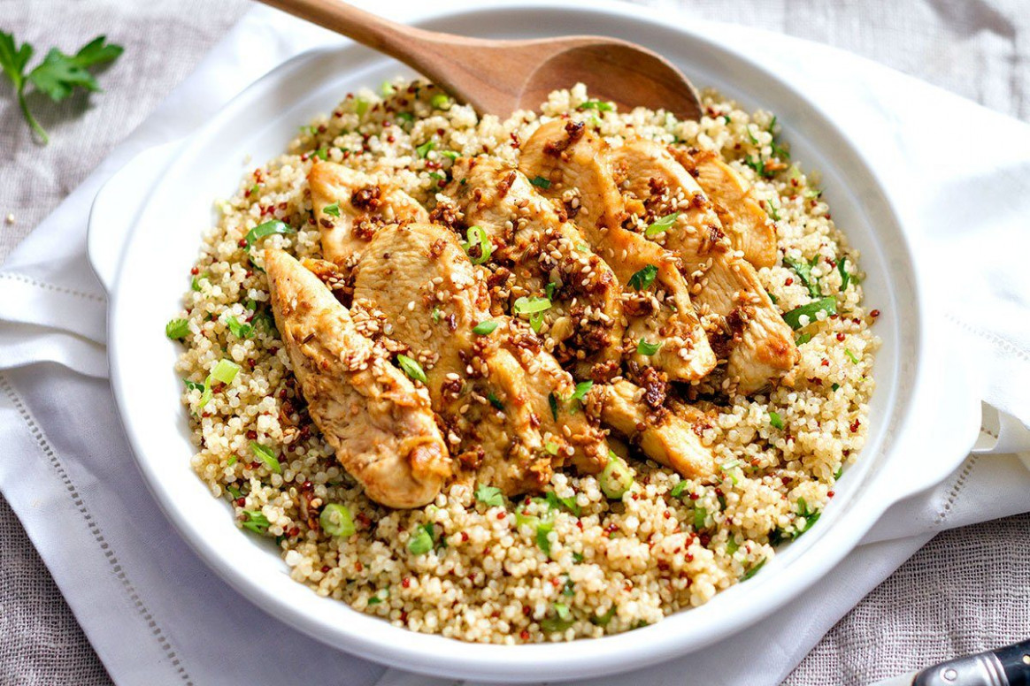 Garlic Lime Chicken Tenders and Quinoa
