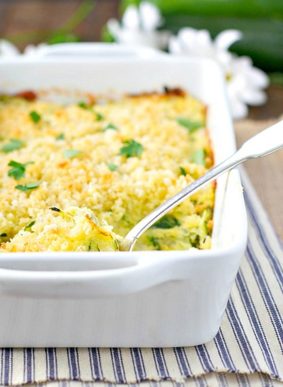 Garlic Parmesan Zucchini Casserole – The Seasoned Mom