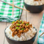 Gluten Free Korean Ground Turkey And Rice Bowl –