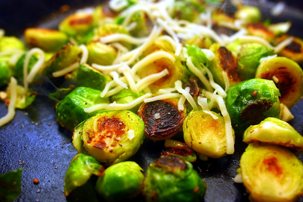 Golden-Crusted Brussels Sprouts Recipe (with Gruyère)