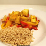 Golden Tofu With Sweet Peppers