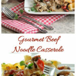 Gourmet Beef Noodle Casserole With Cream Cheese