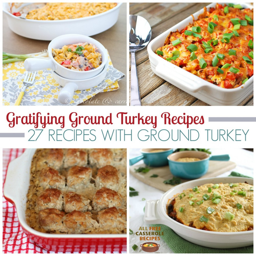 Gratifying Ground Turkey Recipes: 27 Recipes with Ground ...