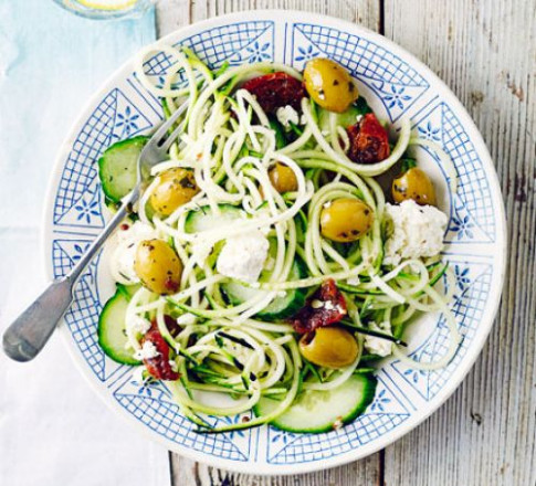 Greek courgetti salad recipe | BBC Good Food