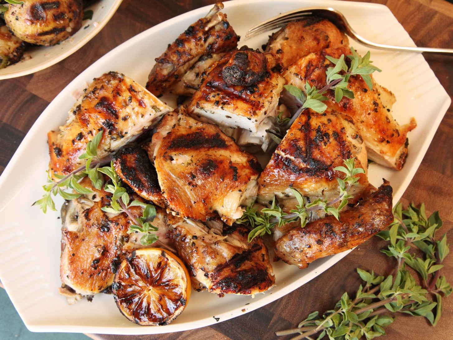 Greek-Style Grilled Chicken With Oregano, Garlic, Lemon, and Olive Oil  Recipe
