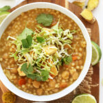 Green Chickpea Curry With Couscous
