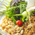 Greens, Beans And Grains Salad Lemon Basil Vinaigrette|Craving Something Healthy