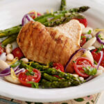 Griddled Chicken And Asparagus With White Bean Salad …