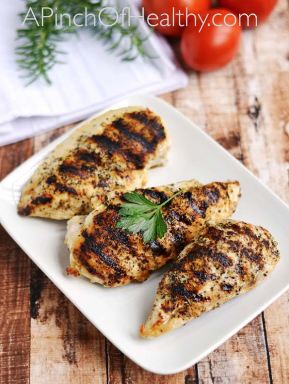 Grilled Chicken Breasts - Easy Grill Pan Method - A Pinch ...