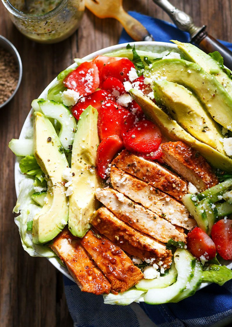 Grilled Chicken Salad Recipe with Avocado – strawberries ...