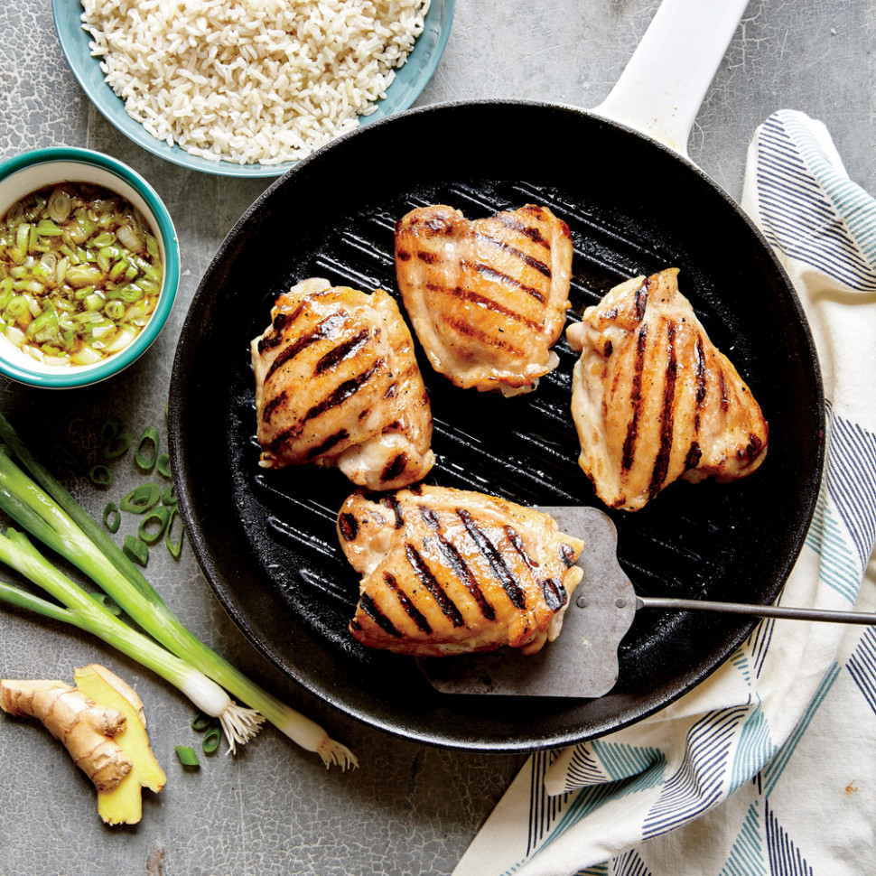 Grilled Chicken Thighs with Ginger Sauce Recipe | MyRecipes