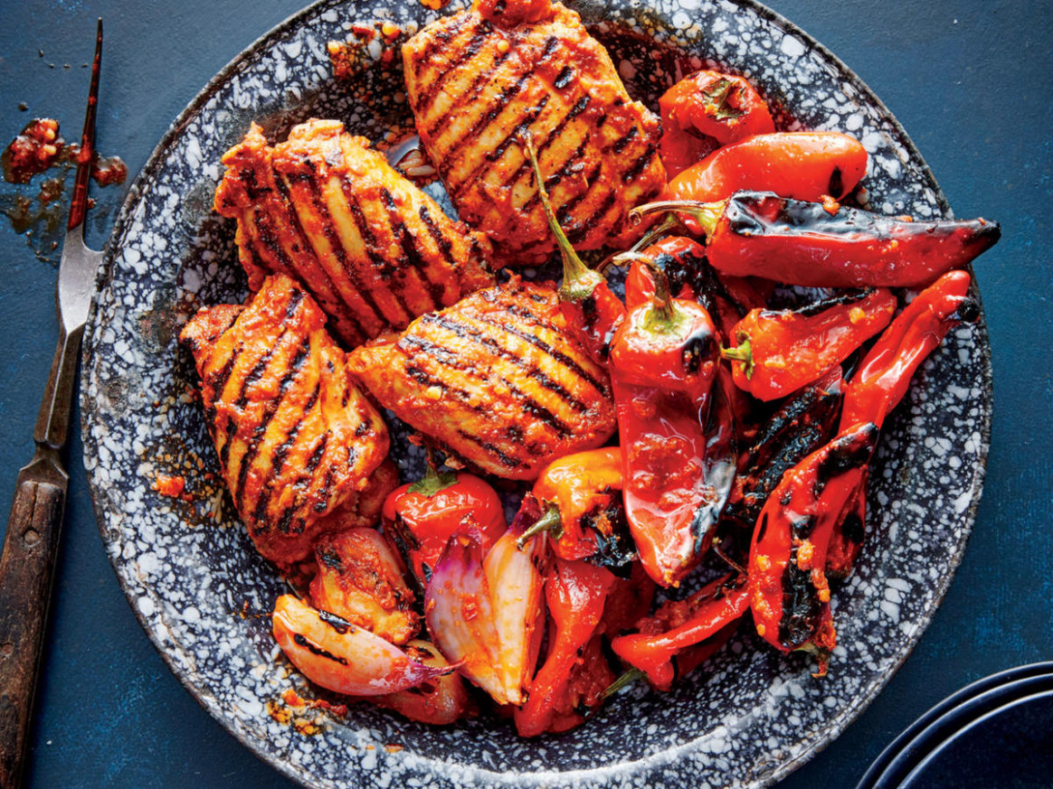 Grilled Red Curry Chicken and Bell Peppers Recipe ...