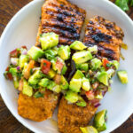 Grilled Salmon With Avocado Salsa (Healthy, Low Carb, Paleo, Whole12)