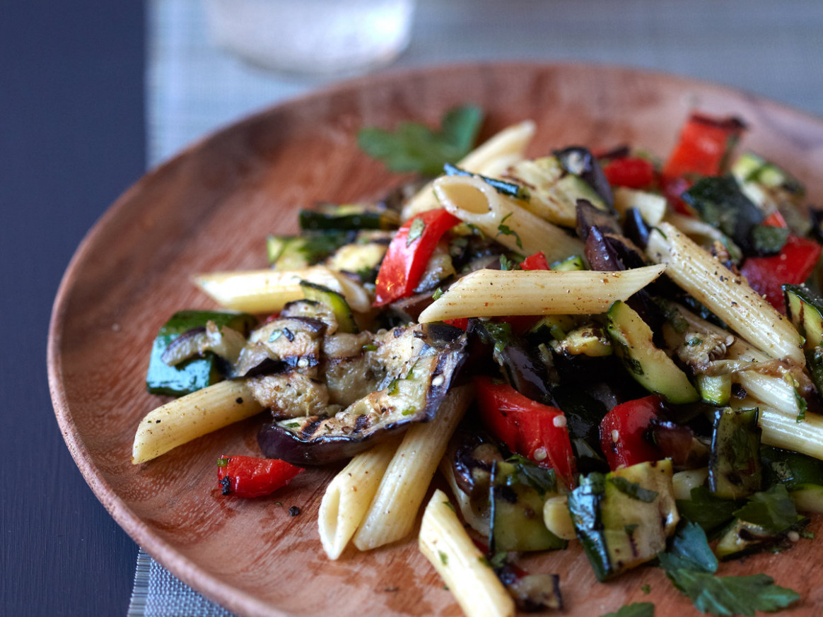 Grilled-Vegetable Pasta with Cumin Recipe - Quick From ...