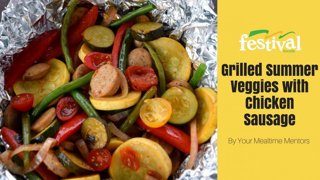 Grilled Veggies and Chicken Sausage