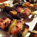 Grilled Yuzu Chicken On A Stick And Honey Soy Glazed Beef …
