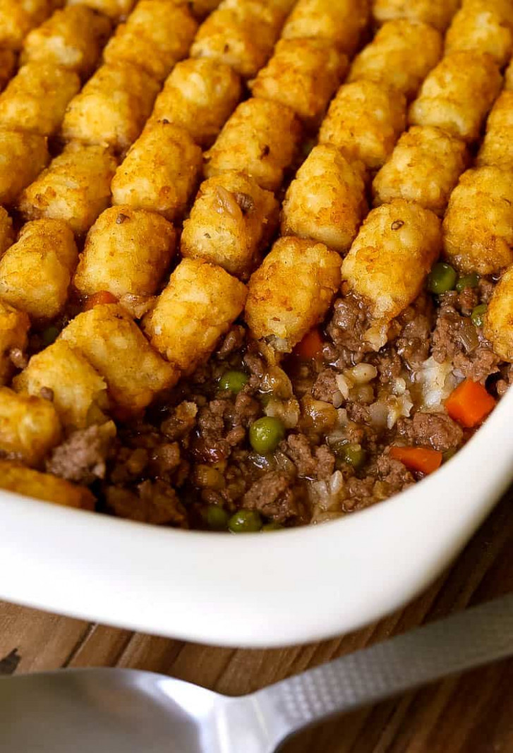 Ground Beef Tater Tot Casserole - Mantitlement