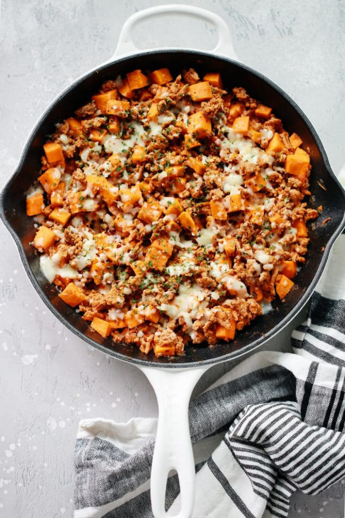 Ground Turkey Sweet Potato Skillet (Delicious One Pan …