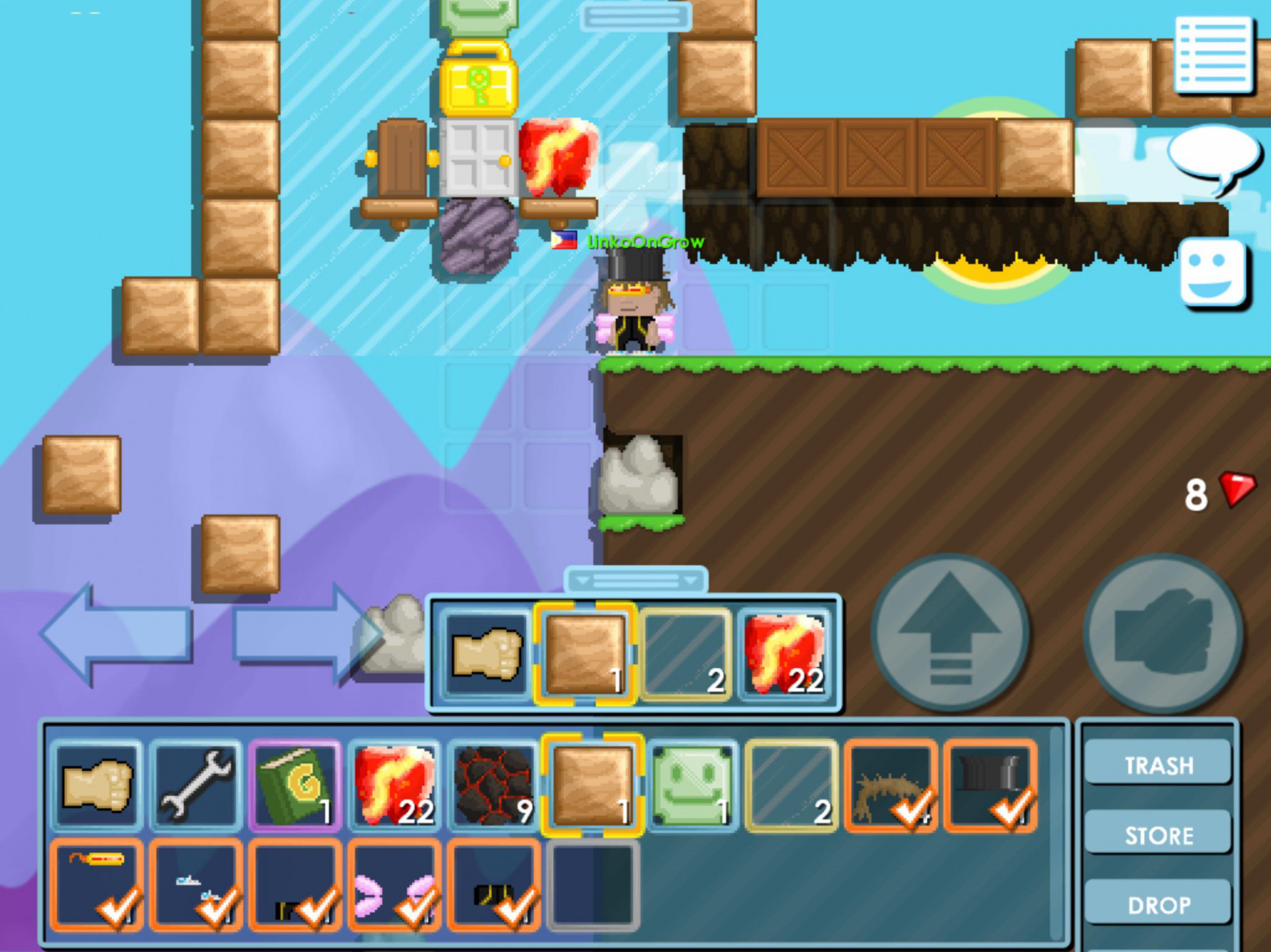 guys this is my first day on growtopia, tell me what you ...
