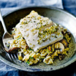 Hake With Mushroom Risotto