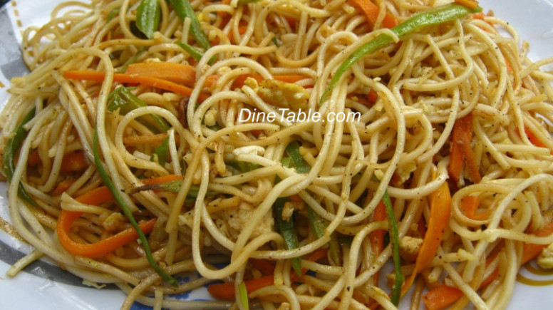 Hakka noodles with vegetables and egg recipe