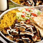 Halal Cart Style Chicken And Rice With White Yogurt Sauce