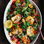 Halloumi Rainbow Salad - The Mother Cooker