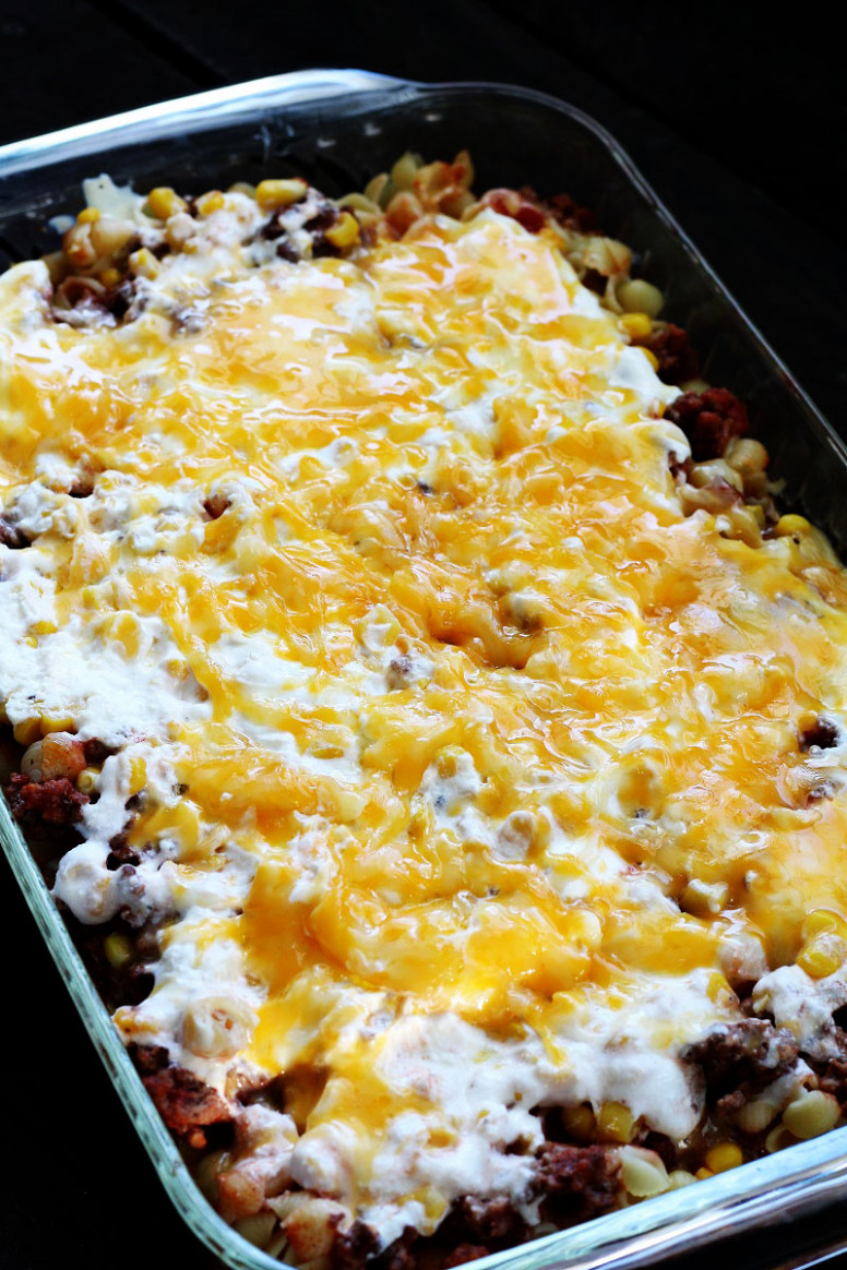 Hamburger Pasta Casserole Bake - My Recipe Treasures