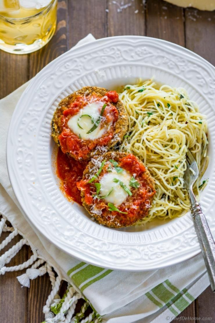 Healthy Baked Eggplant Parmesan Recipe | ChefDeHome.com