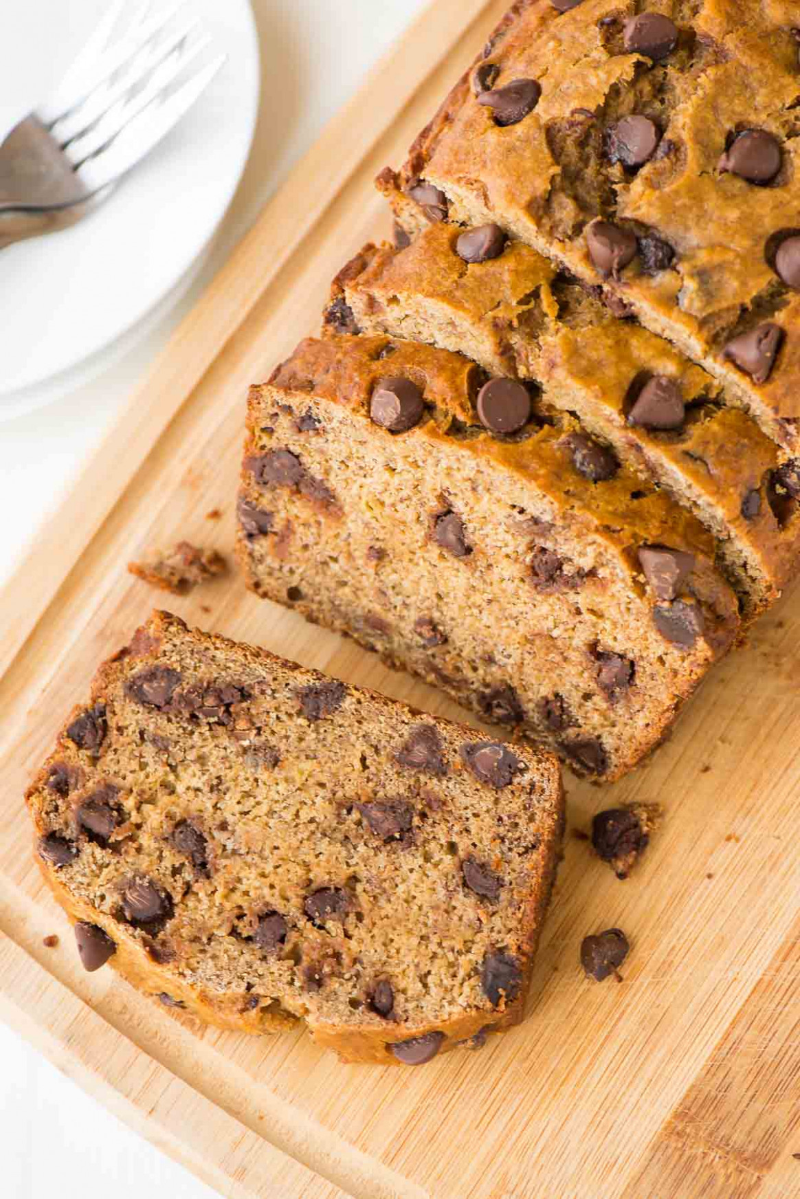 Healthy Banana Bread Recipe with Chocolate Chips | Well ...