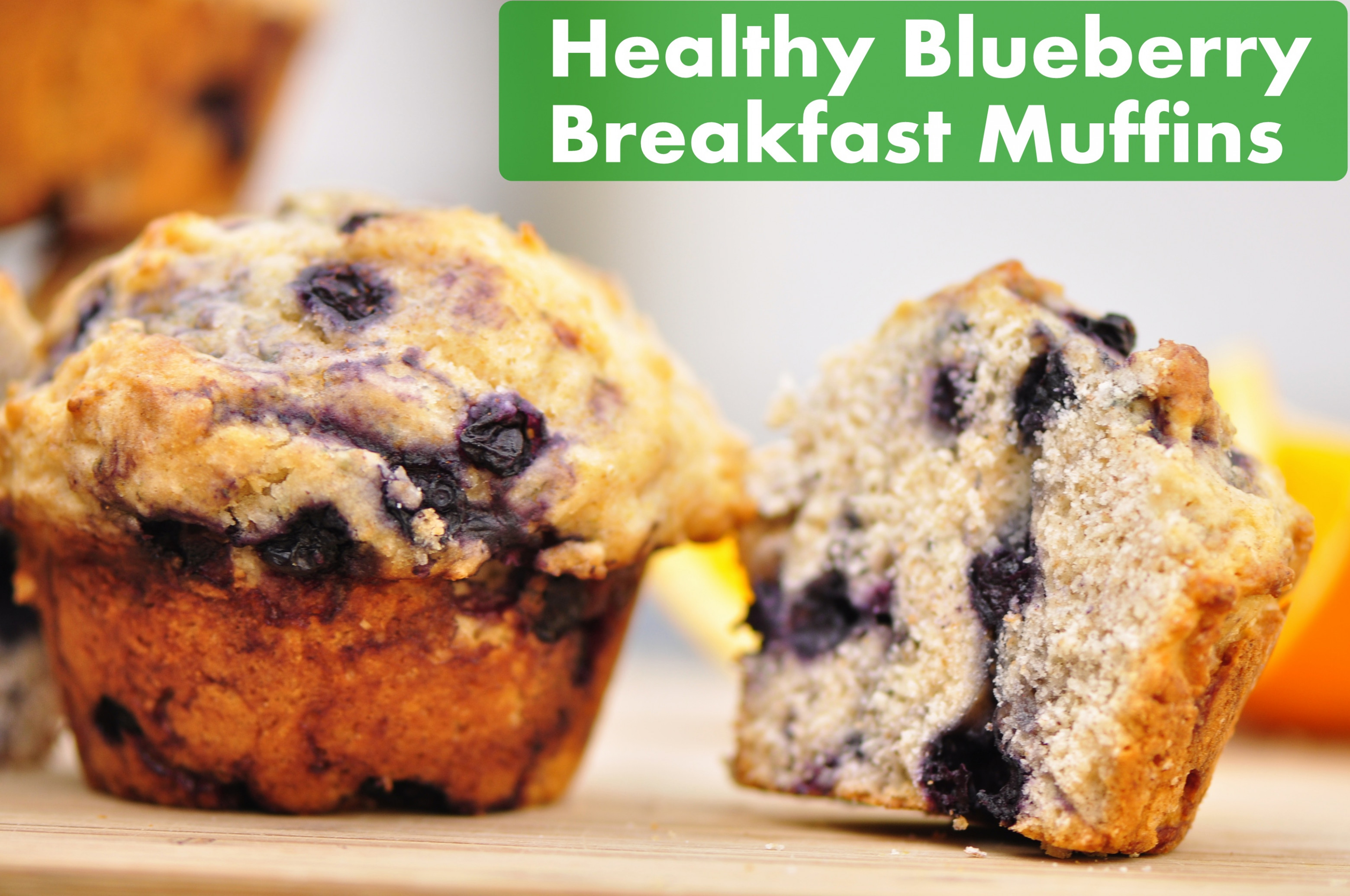 Healthy Blueberry Breakfast Muffins – the vegetarian ginger