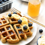 Healthy Blueberry Waffle Recipe – Fit Foodie Finds