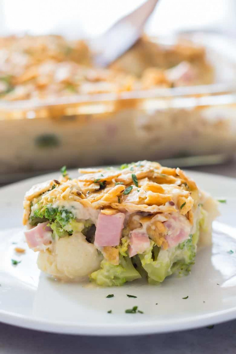 Healthy Broccoli Casserole Recipe with Ham » LeelaLicious