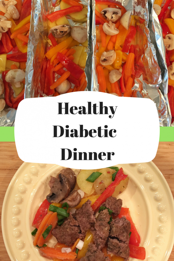 Healthy Camping Dinner - Diabetic One Pan Dinner