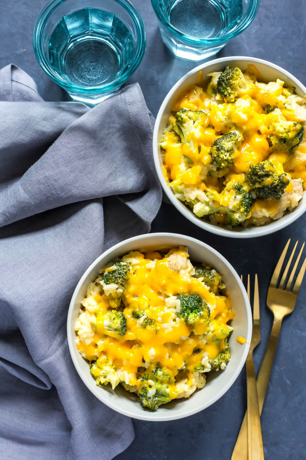 Healthy Chicken Broccoli Rice Casserole